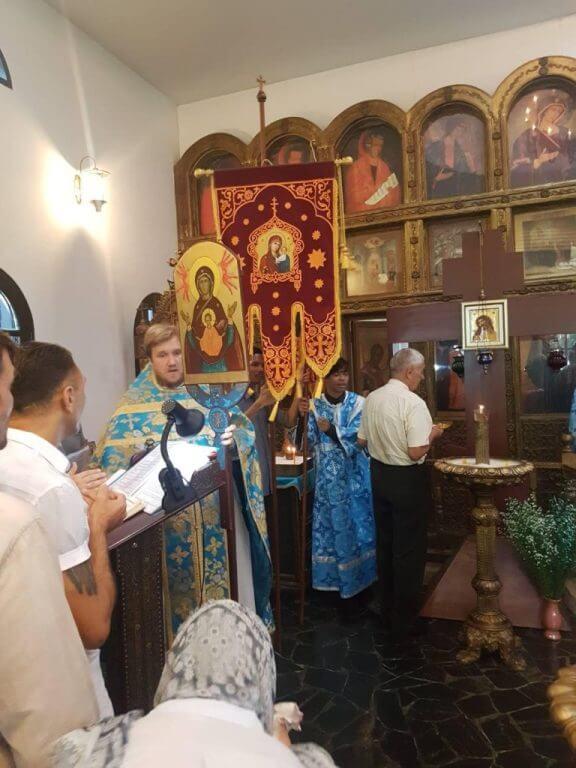 28 августа 2018 в Успенском храме мужской монашеской общины в Ратчабури (Таиланд) прошел престольный праздник