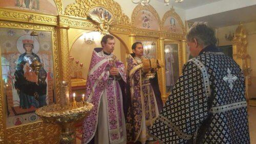 Престольный праздник нижнего придела Всех-святского храма.