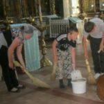 Помощь в уборке Ильинского храма села Палищи.