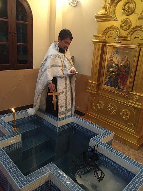 Празднование Крещения Господня в православном храме Всех Святых (Паттайя)
