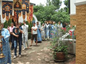 Престольный праздник Успенского храма и мужской монашеской общины в Ратчабури (Таиланд).